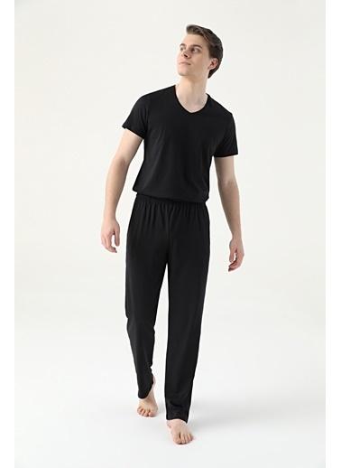 Damat Örme Pijama Alt Siyah